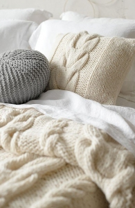 HAND KNIT PILLOW COVERS