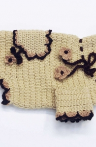 HAND KNIT/CROCHET DOG SWEATERS